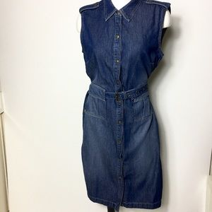 Liz Claiborne Jeans wear dress 14P jean dress